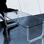 glass coffee table photo